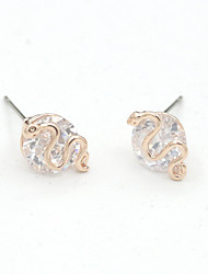 Earring Geometric Jewelry Women Fashion Wedding / Party / Daily / Casual / Sports Crystal / Alloy 1 pair Gold / Silver