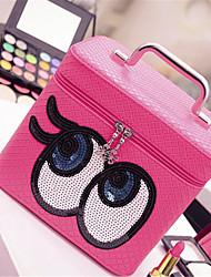 sac cosmétique sac portable de stockage de grande capacité à double boîte de maquillage des yeux lavage