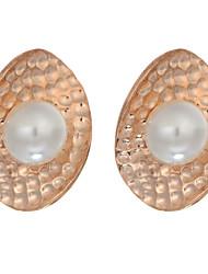 New Fashion Jewelry Pearl Stud Earings Brincos 18K Gold Plated Earrings For Women Pendientes Trendy Drop Earrings