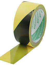 preto e amarelo fita de advertência pvc 4,8 centímetros * 18m zebra amarela e preta Yongle fita de aviso de fita