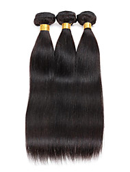Unprocessed  Peruvian Straight Hair Bundles 8-26 3PCS 150g Human Hair Weaves #1B Natural Black Healthy And Clean