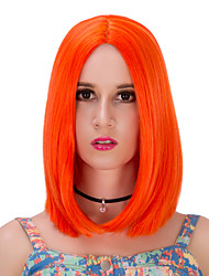 Orange Short Wig.WIG LOLITA, Halloween Wig, color wig, fashion wig, natural wig, COSPLAY wig.