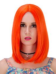 naranja corta lolita wig.wig, peluca de Halloween, peluca de color, peluca de la manera, peluca natural, peluca cosplay.