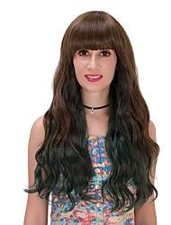 Ink green gradient long hair wig.WIG LOLITA, Halloween Wig, color wig, fashion wig, natural wig, COSPLAY wig.
