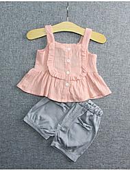 малыш Набор одежды-На каждый день,Однотонный,Хлопок,Весна-