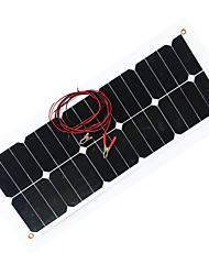 zdm® 30w 12v sortie panneau solaire 1.6a de silicium monocristallin (dc12-18v)