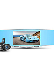 ling degrés conduite enregistreur double lentille A205 HD 5 pouces grand écran rétroviseur 1080p super grand angle vision de nuit