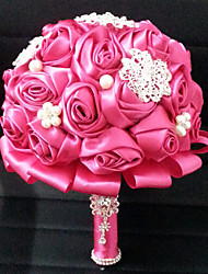 "Wedding Flowers Round Roses Bouquets Wedding Satin 7.09""(Approx.18cm)"