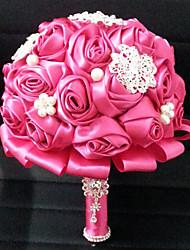 """Fleurs de mariage Rond Roses Bouquets Mariage Satin 7.09""""(Env.18cm)"""