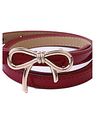 Women PU Waist Belt,Fashionable Jewelry / Casual Gold / Silver / Alloy All Seasons