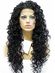 evawigs 18-24 Zoll schöne hitzebeständige synthetische Spitzefront lockiges Haar Perücken für schwarze Frauen