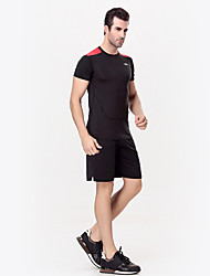 Running Clothing Sets/Suits Men's Short Sleeve Breathable / Quick Dry / Compression Nylon / Chinlon Running Sport