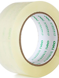 Cheap Deli 30205 Transparent Tape Sealing Tape 4.8Cm * 100Y Strong Tack Continued Tape 6 Rolls / Tube