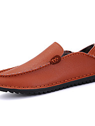 Men's Loafers & Slip-Ons Spring / Summer / Fall / Winter Flats Leather Office & Career / Party & Evening