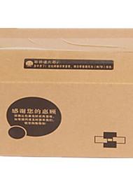 carton matériau service de couleur en bois brun équipement cinq d'un paquet