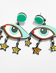 Green Eye Shape Drop Earring(1 Pair)