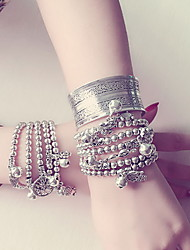 Chain Bracelets 1pc,Silver Bracelet Vintage Circle 514 Alloy Jewellery