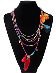 Necklace Strands Necklaces Jewelry Wedding Fashion Alloy Assorted Color 1pc Gift