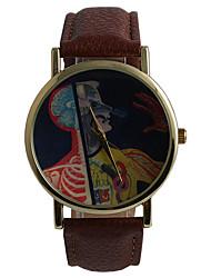 Hombre Reloj de Moda Resistente al Agua Cuarzo Aleación Banda Casual Marrón