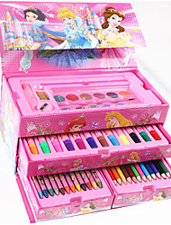 Sixty-One Children Gift Stationery And Gift 54Pc Painting Watercolor Brush Pen Student Cartoon Princess Wholesale