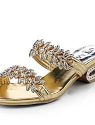 Mujer-Tacón Robusto-Zapatillas-Sandalias-Vestido / Casual-Purpurina-Oro
