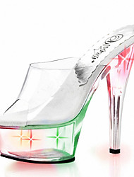 15CM nightclub LED SHOES flash sandals / Women's Heels Platform / Personality light shoes / / Crystal Heel /personality