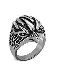 Unique Design Mens Ring Boys Punk Bird 316L Stainless Steel Ring Wholesale Jewelry