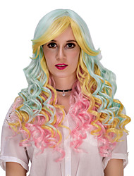 Color long hair wig  Halloween Wig Color wig Fashion wig natural wig COSPLAY wig