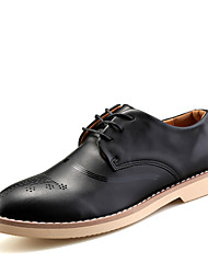 British Style Men's Pointed-toe High Quality Leather Shoes with Carve for Party/Working/Wedding