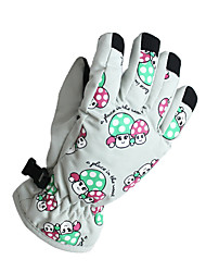 Ski Gloves Winter Gloves Women's / Men's / Kid's / Unisex Activity/ Sports Gloves Keep Warm Gloves Ski & Snowboard Canvas Ski GlovesWhite