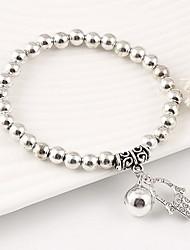 Strand Bracelets 1pc,White Bracelet Vintage Circle 514 Alloy Jewellery