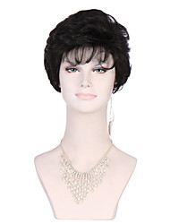 Black Color Curly Women Fashion European and American Synthetic Wigs
