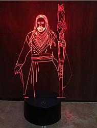 варкрафт касания затемнением 3D LED ночь свет 7colorful украшения атмосфера новизны светильника освещения свет рождества