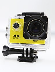Sports Action Camera 4K  WIFI Waterproof 12MP High Defenition 2.0 Inch Sports DV 140 Degree  Yellow