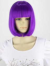 economici sintetico bob parrucca 12inch brevi parrucche di Lila donne parrucca per le donne femminili parrucche carino realistico con il