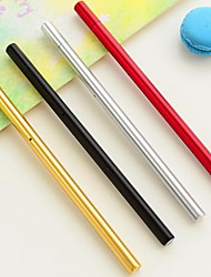 Stationery Black Gel Pen Triangular Metal Feel Water-Based Pen Office Supplies (Random Color)