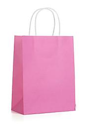saco do presente saco branco sacos de papel kraft saco de papel kraft 28 * 21 * 11 local um pacote de cinco