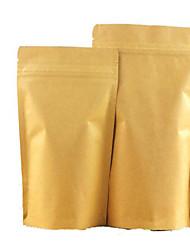 kraft sacos de auto ziplock sacos de comida de nozes sacos de chá de frutas secas selados sacos de um pacote de dez 9 * 14 * 3