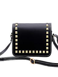 Women-Casual / Office & Career / Shopping-PU-Shoulder Bag-White / Black