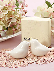 """True Love Conquers All"" Ceramic Birds Salt and Pepper Shakers"