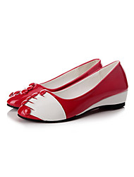 Women's Shoes Leather Spring / Summer / Fall / Winter Flats Flats Outdoor / Casual Flat Heel Others Black / Red Walking
