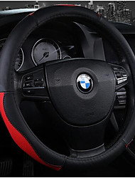 Leather Steering Wheel Cover Environmental Non-Toxic And Non-Irritating Odor Slip Resistant Feel Comfortable