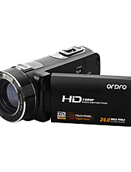 "ordro® hdv-z8plus 1080p Full HD digitale videocamera 3 ""touch screen tft 16x digitale zoom 8MP sony sensor"