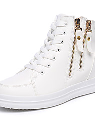 Women's High-top Boots Height Increasing Flats