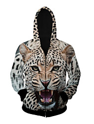 3D Hoodie Long Sleeve Inspired by Leopard Anime Cosplay Costumes Cosplay Tops Bottoms Cosplay Hoodies