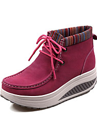 Women's Sneakers Spring / Fall / Winter Comfort / Round Toe Fleece Office & Career / Dress / Casual Platform Lace-up