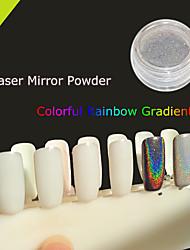 New! 1g Colorful Laser Mirror Powder Mermaid Rainbow Gradient Powder Glitter Chrome Pigment Nail Sequins Nail Art Tools