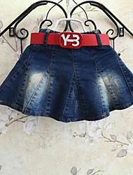 Girl's Cotton Summer Jeans High Waisters Parachute Skirt