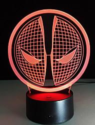 1шт касания 3 d водить красочное видение замены лампы подарок атмосфера настольная лампа цвет свет ночи