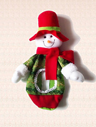 1pc Christmas Snowman Candy Bag Decoration Lovely Doll Props Dress Xmas Present